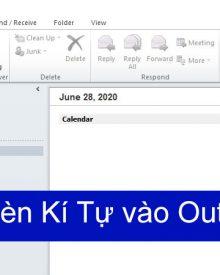 Chèn ký hiệu đặc biệt Outlook