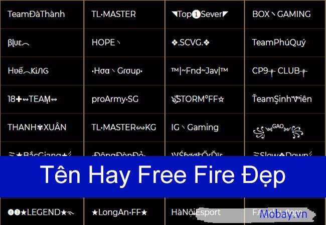 Tên hay Free Fire đẹp chất ngầu
