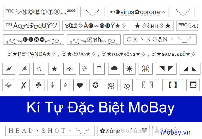Kí tự đặc biệt Mobay