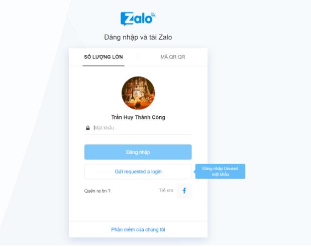 Đăng nhập Zalo trên máy tính