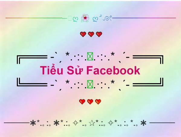 Tiểu sử facebook