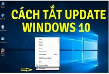 Phần mềm tắt update win 10